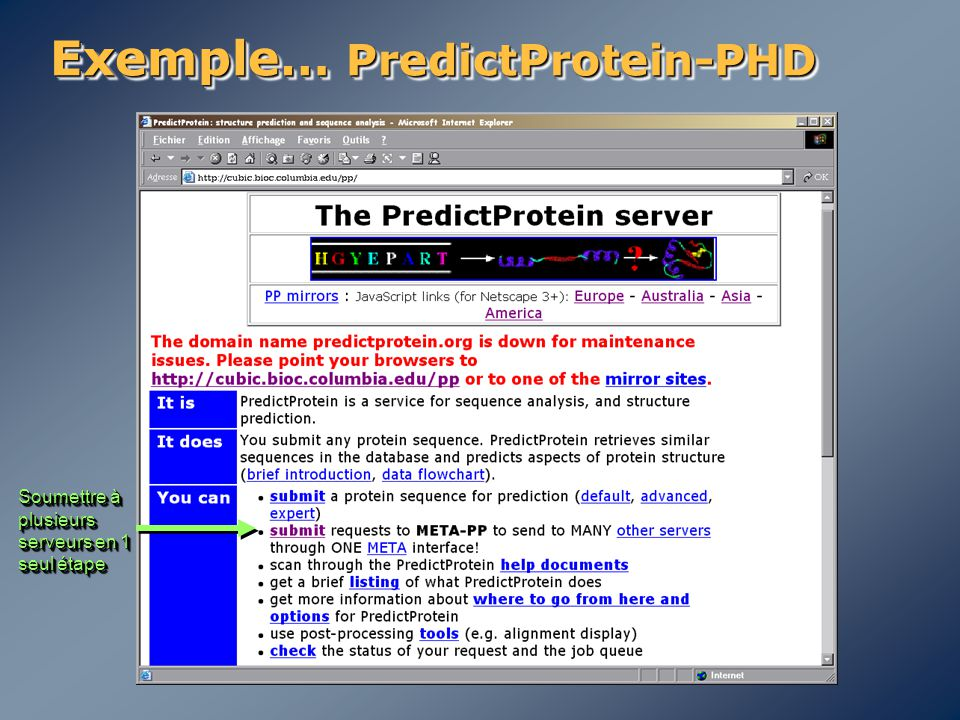 Exemple… PredictProtein-PHD