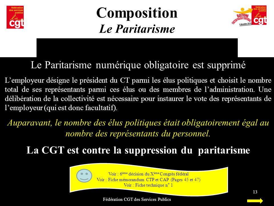 La CGT est contre la suppression du paritarisme