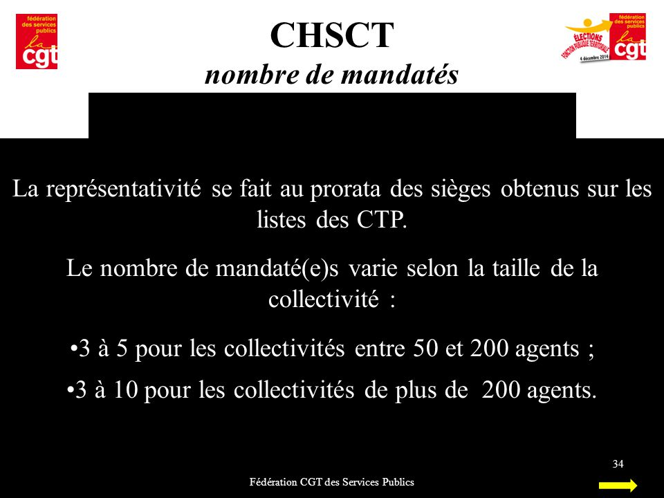 CHSCT nombre de mandatés