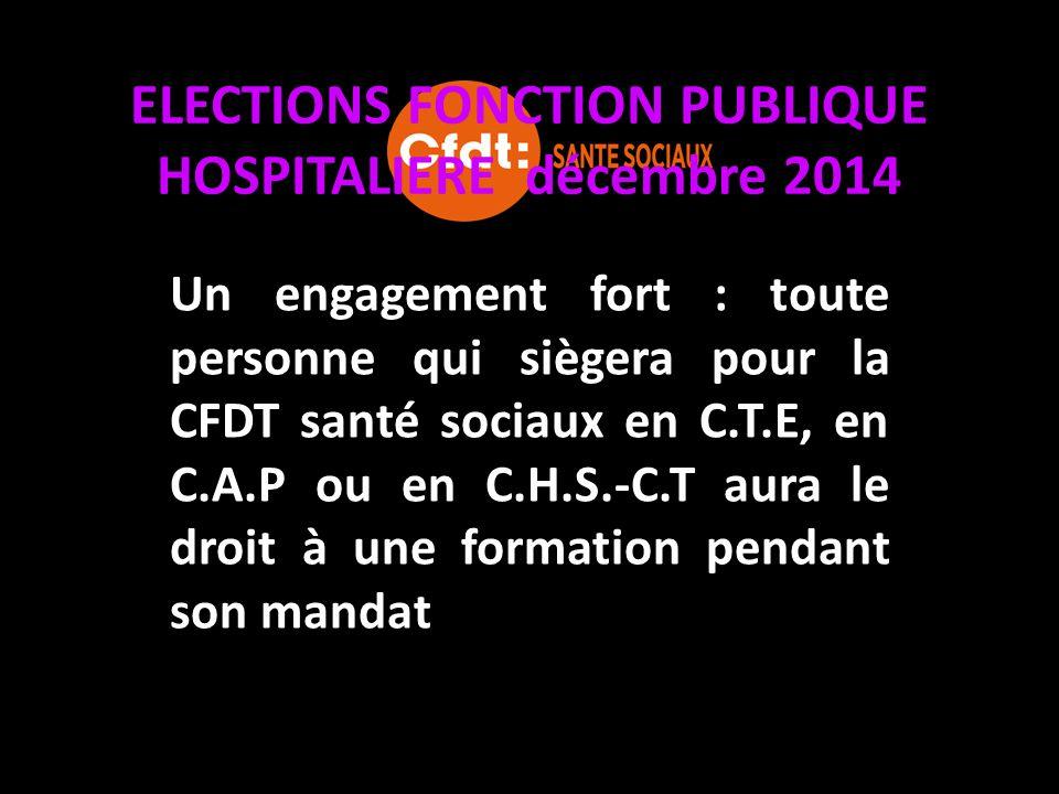 ELECTIONS FONCTION PUBLIQUE HOSPITALIERE décembre 2014