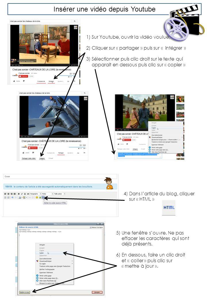 Insérer une vidéo depuis Youtube