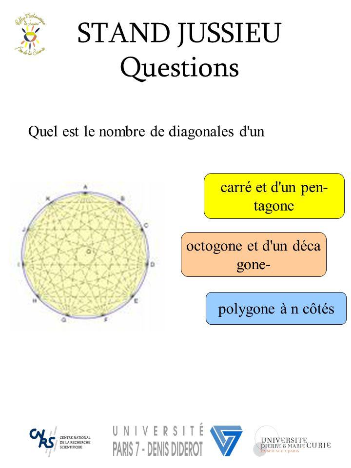 STAND JUSSIEU Questions Quel est le nombre de diagonales d un
