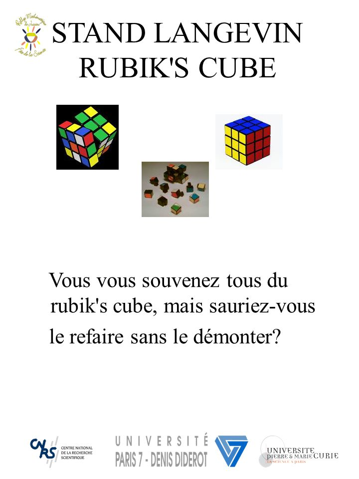 STAND LANGEVIN RUBIK S CUBE