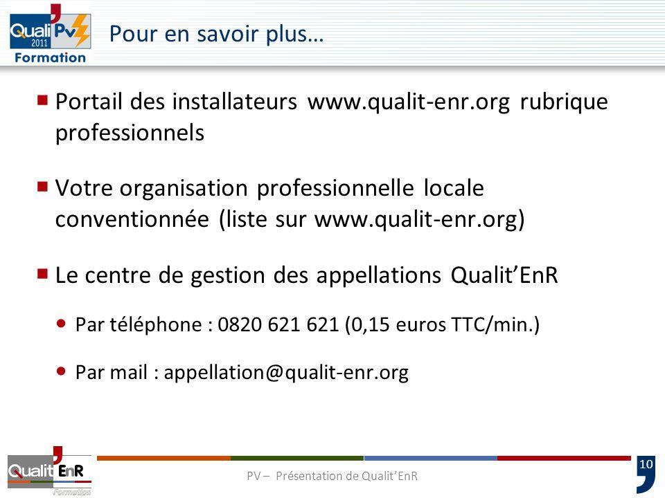 PV – Présentation de Qualit'EnR