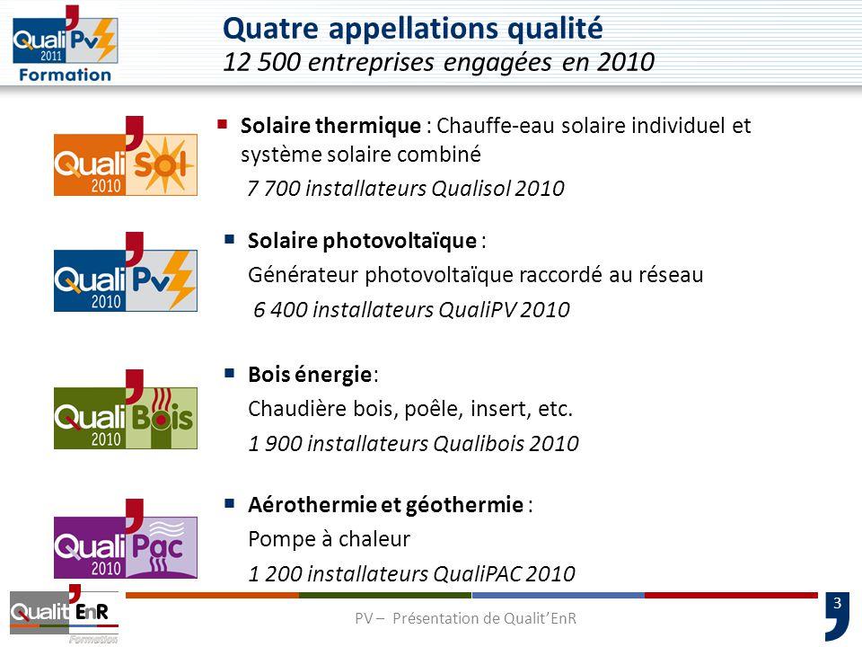 Quatre appellations qualité 12 500 entreprises engagées en 2010