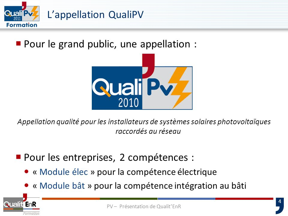 L'appellation QualiPV