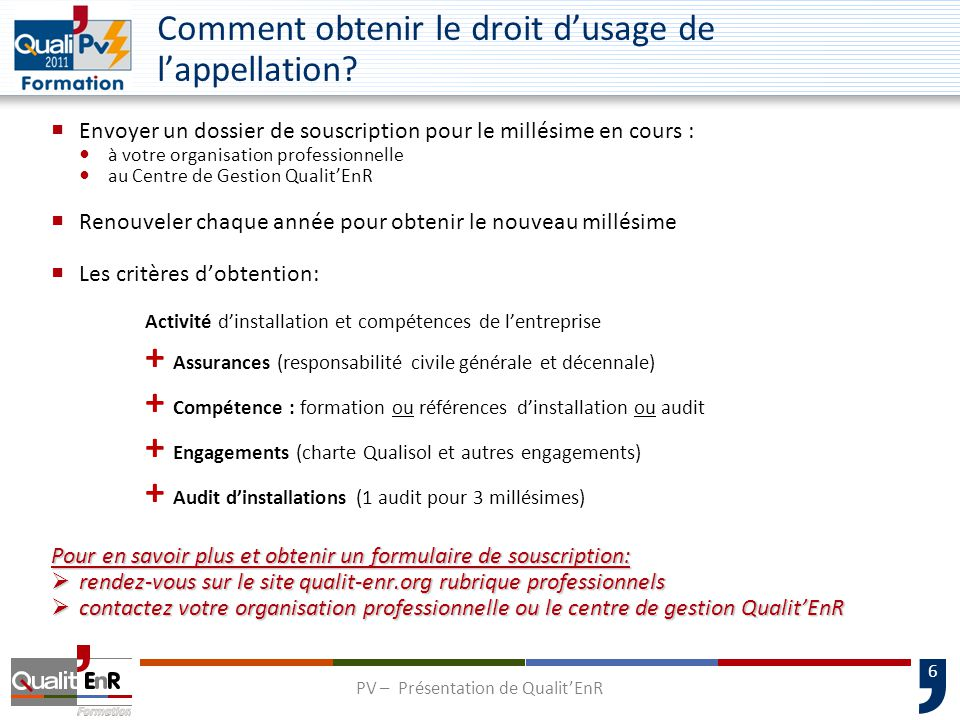 Comment obtenir le droit d'usage de l'appellation