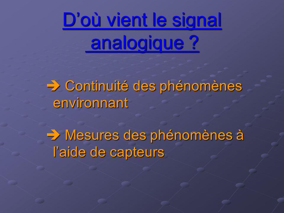 D'où vient le signal analogique