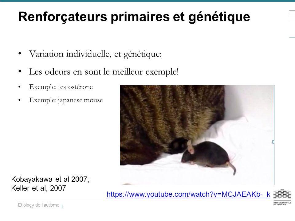Renforçateurs primaires et génétique