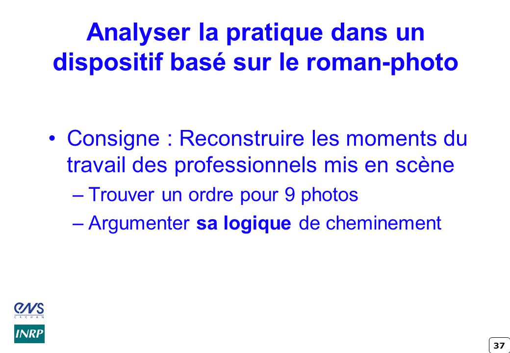 Analyser la pratique dans un dispositif basé sur le roman-photo
