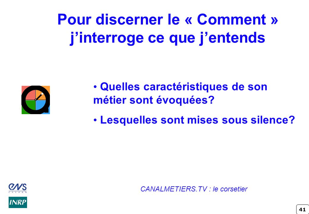 Pour discerner le « Comment » j'interroge ce que j'entends