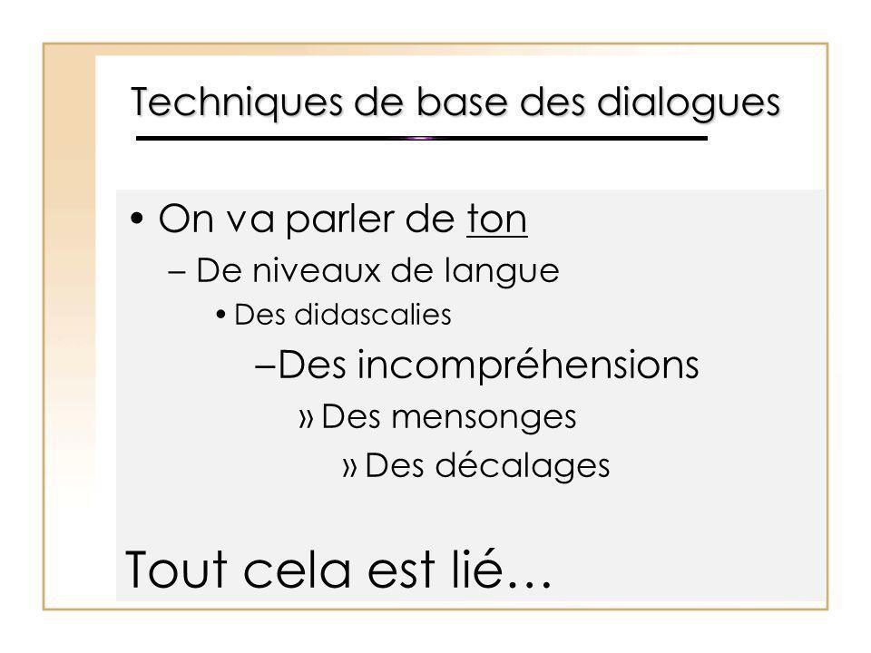 Techniques de base des dialogues