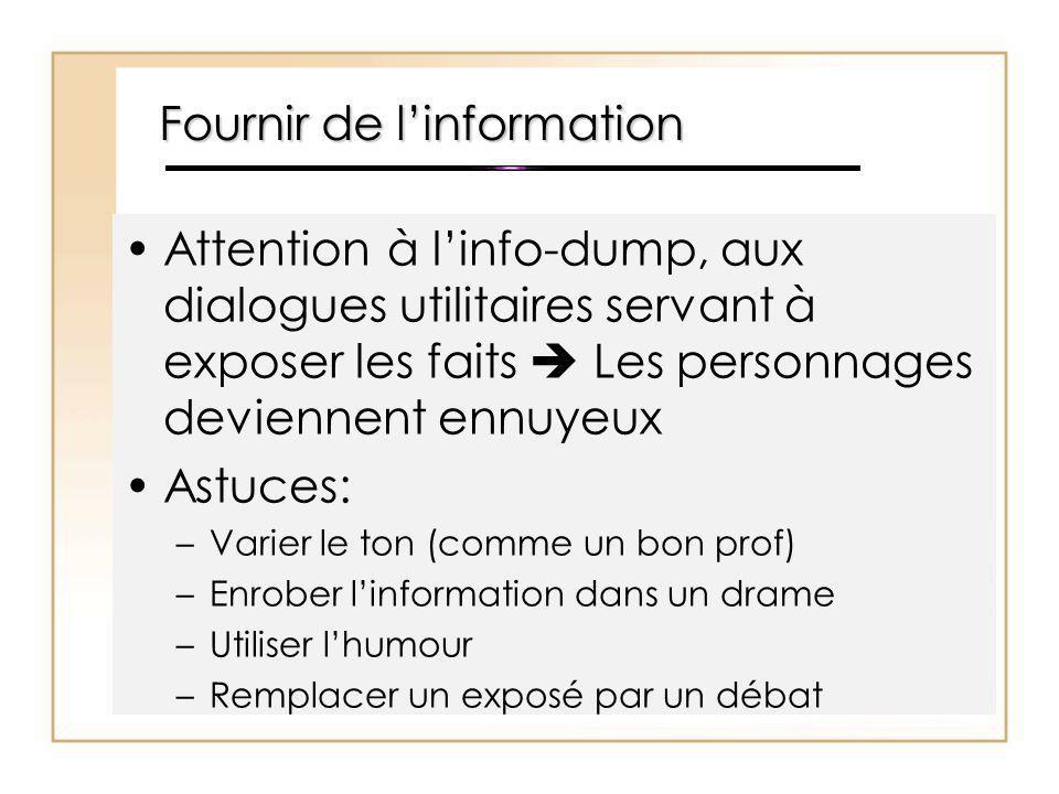 Fournir de l'information