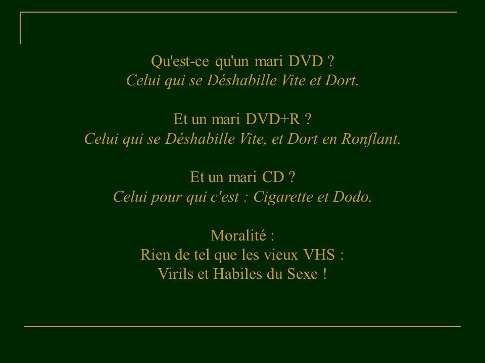 Celui qui se Déshabille Vite et Dort. Et un mari DVD+R