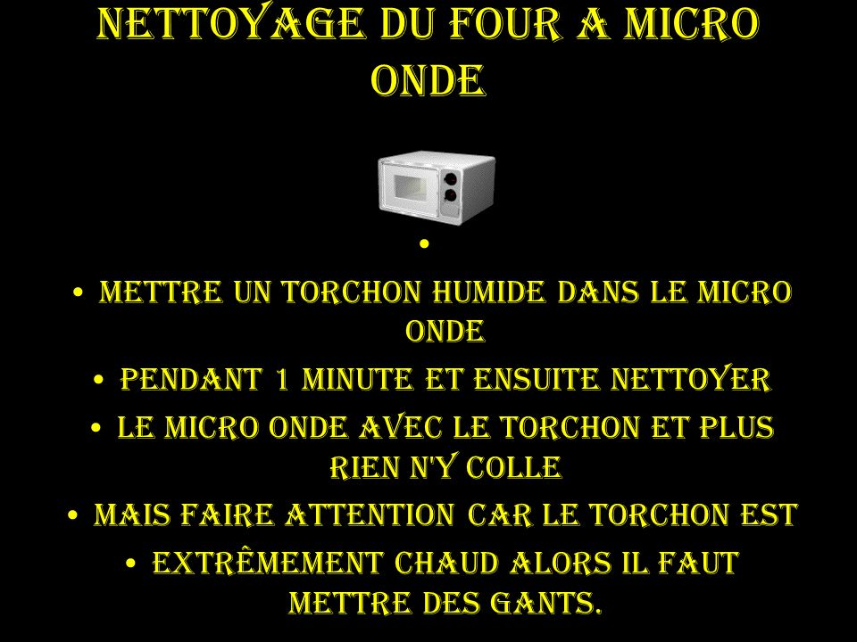 nettoyer four micro onde nettoyer un four micro ondes facilement astuce 10 trucs pour nettoyer. Black Bedroom Furniture Sets. Home Design Ideas