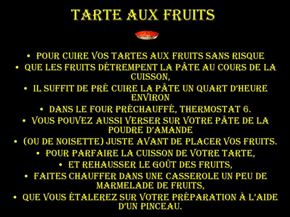 Tarte aux fruits Pour cuire vos tartes aux fruits sans risque