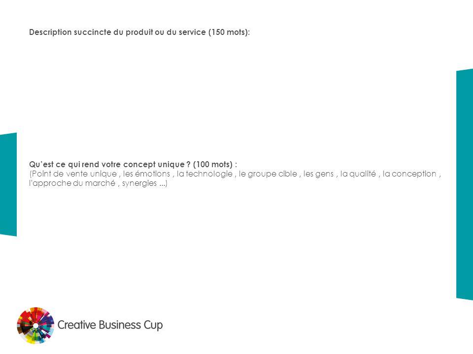 Description succincte du produit ou du service (150 mots):