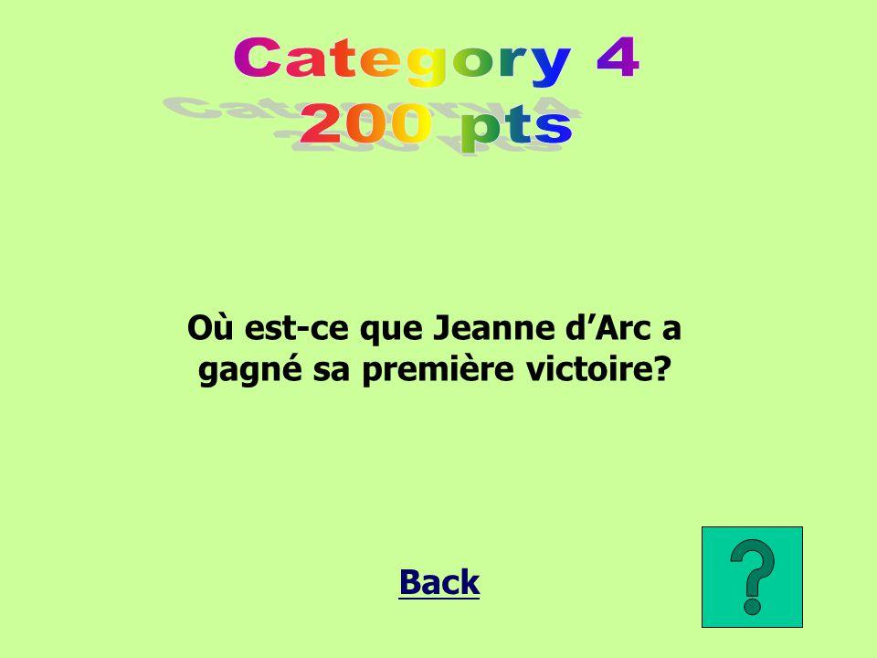 Où est-ce que Jeanne d'Arc a gagné sa première victoire