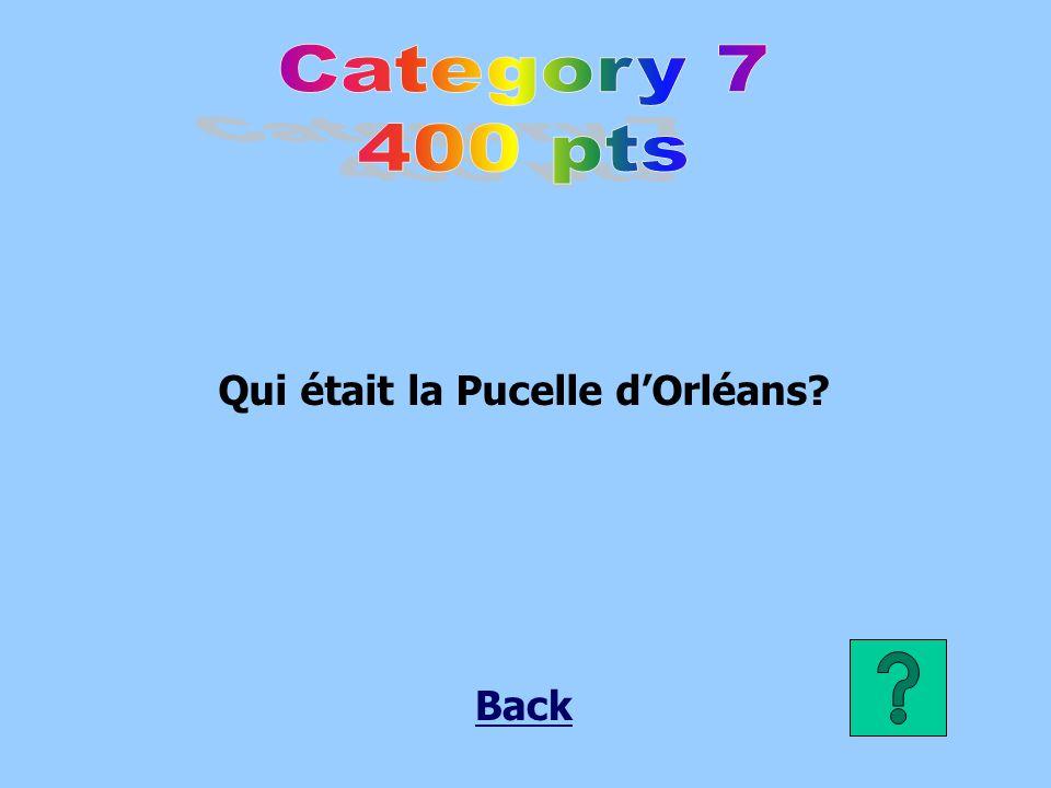 Qui était la Pucelle d'Orléans