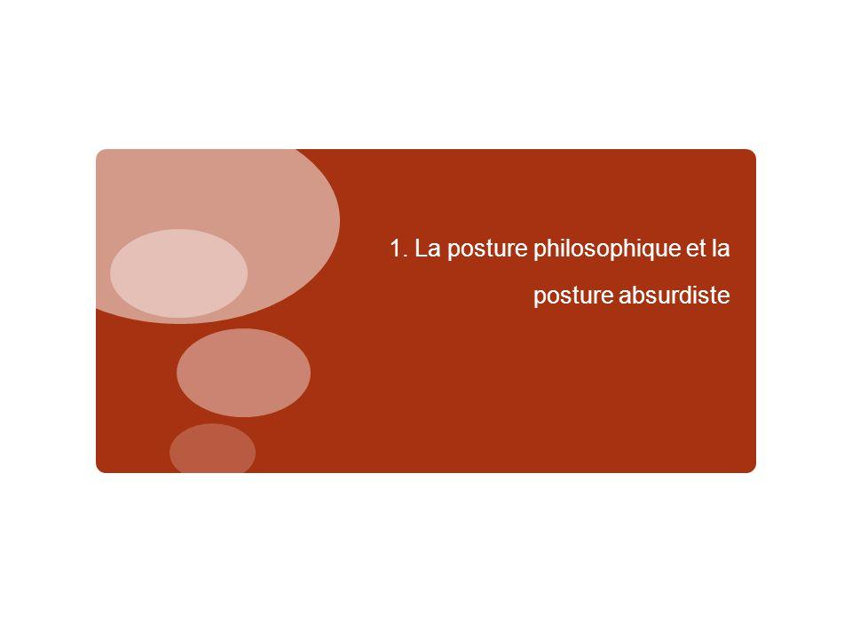1. La posture philosophique et la posture absurdiste