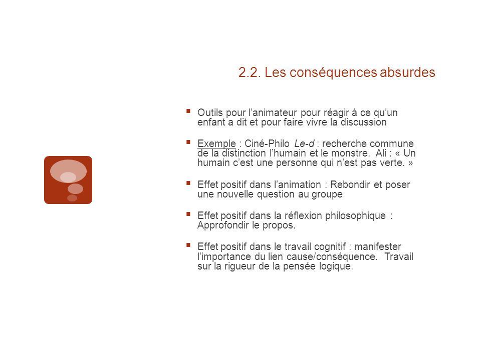 2.2. Les conséquences absurdes