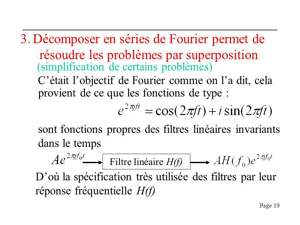 Décomposer en séries de Fourier permet de résoudre les problèmes par superposition