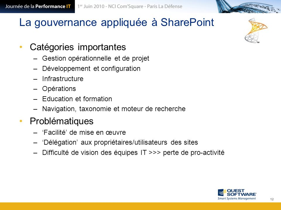 La gouvernance appliquée à SharePoint