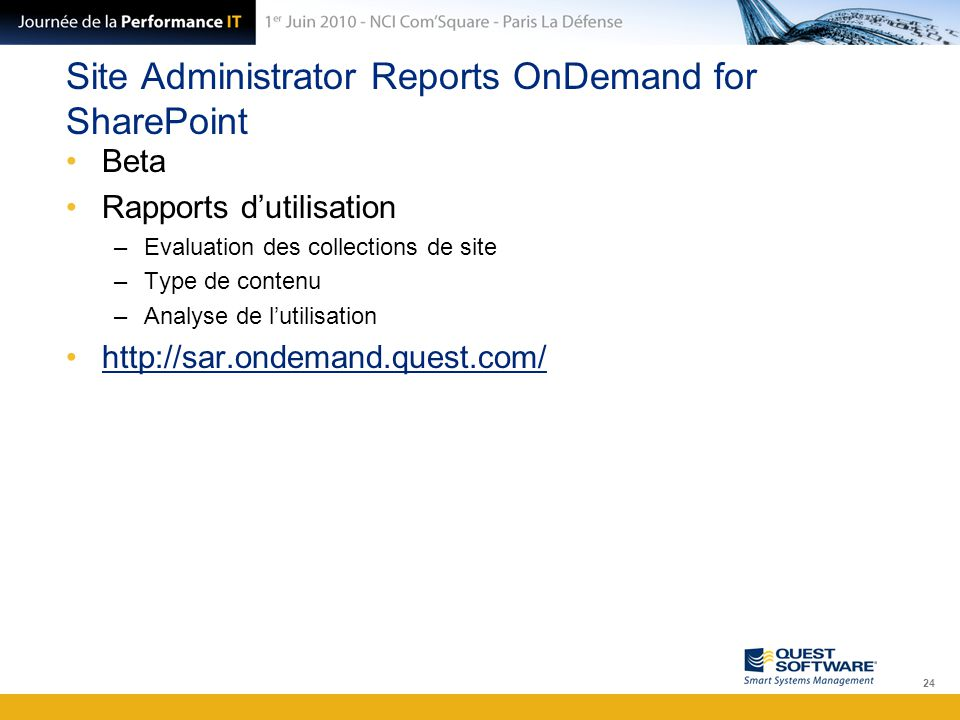 Site Administrator Reports OnDemand for SharePoint