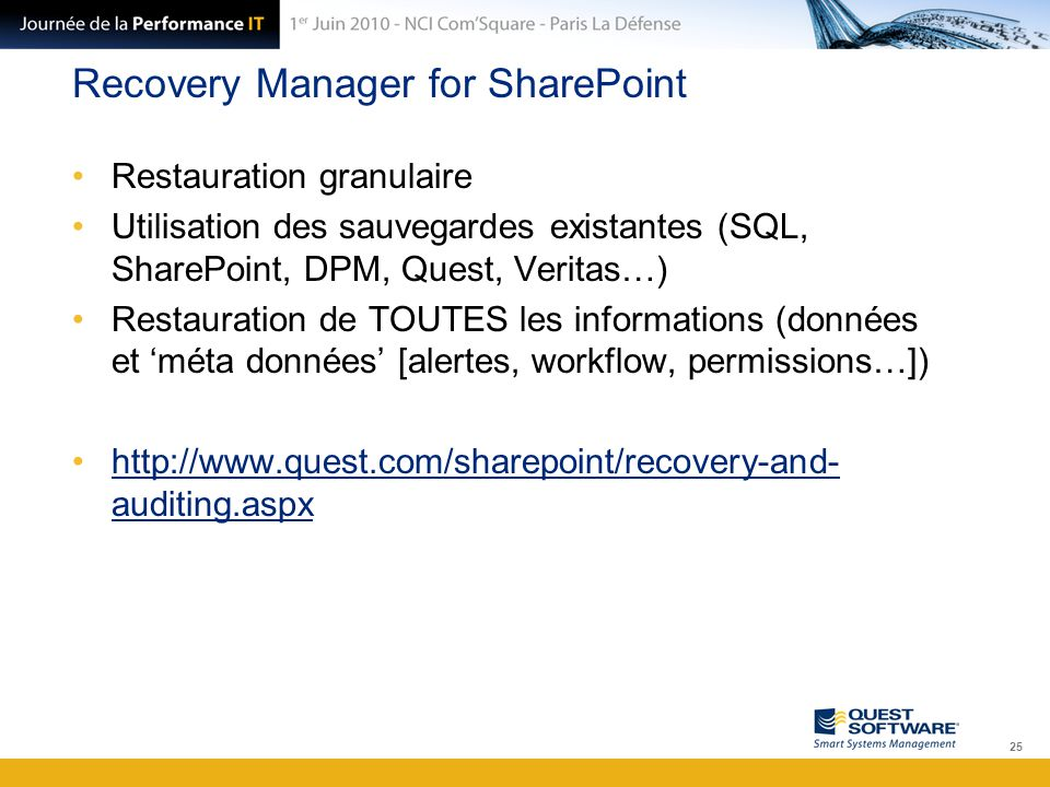 Recovery Manager for SharePoint