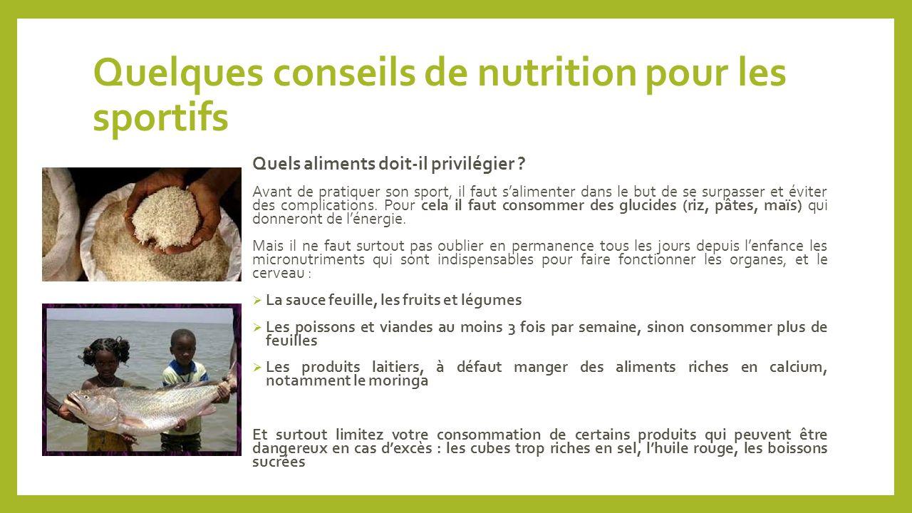 Quelques conseils de nutrition pour les sportifs