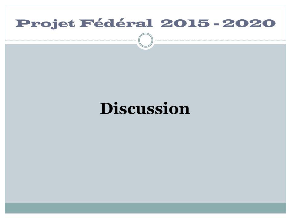 Projet Fédéral 2015 - 2020 Discussion