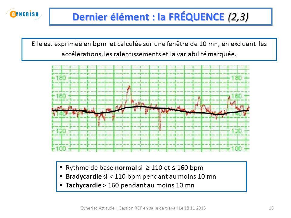 Dernier élément : la FRÉQUENCE (2,3)