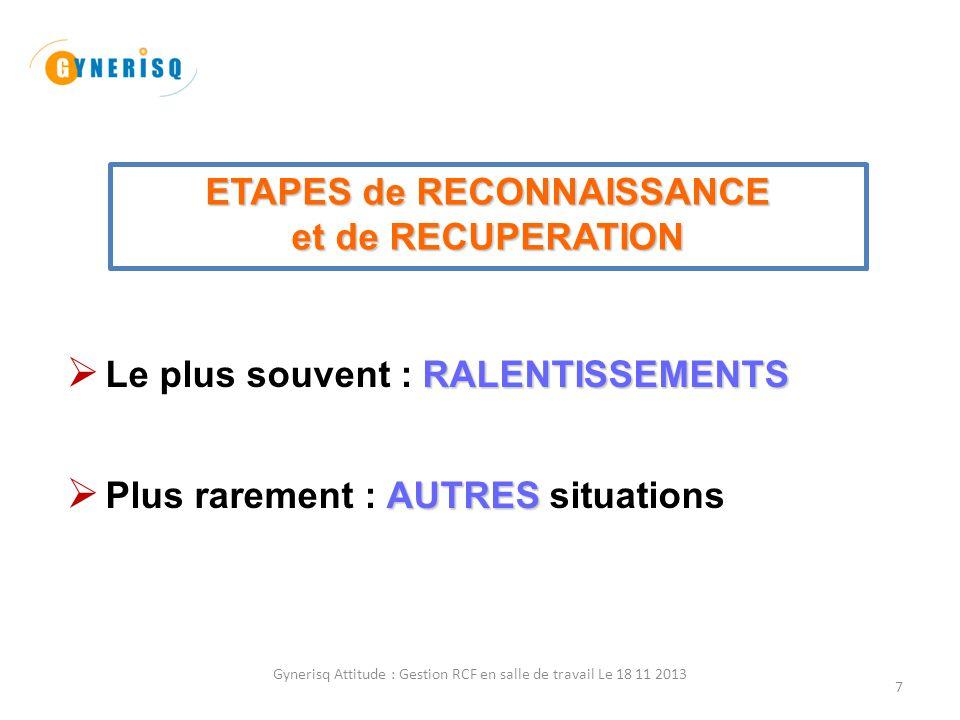 ETAPES de RECONNAISSANCE
