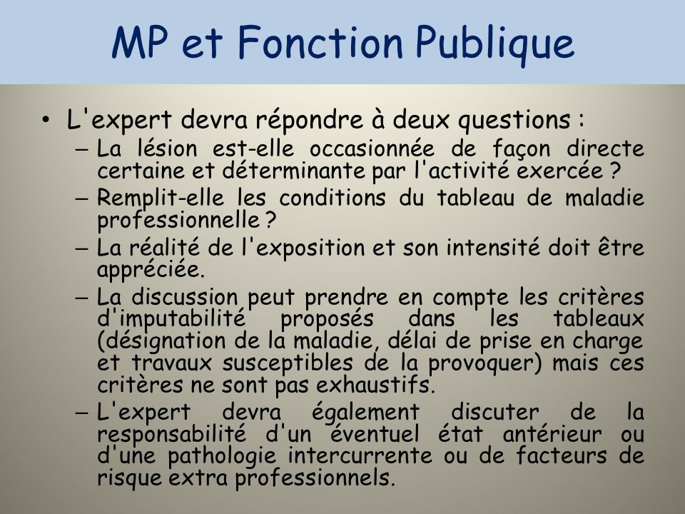 MP et Fonction Publique