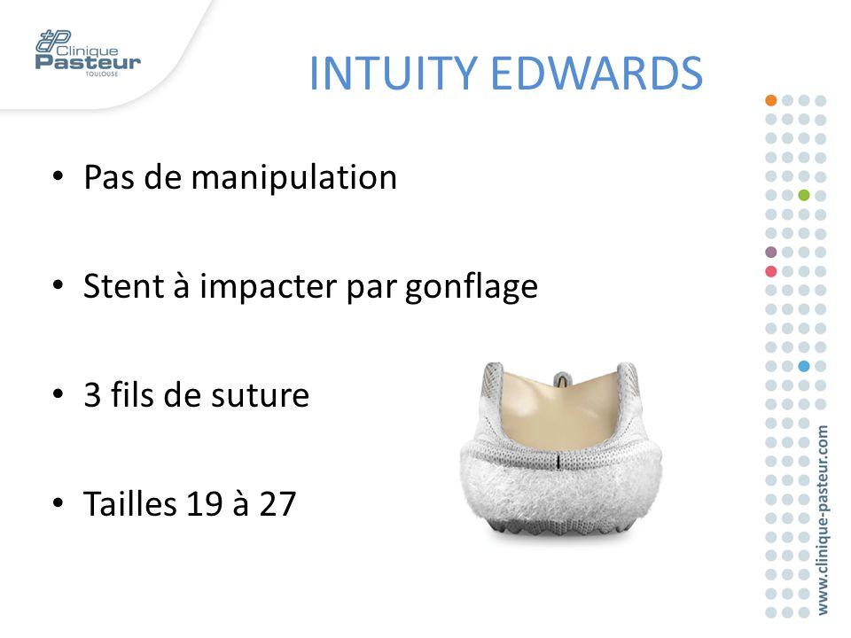 INTUITY EDWARDS Pas de manipulation Stent à impacter par gonflage