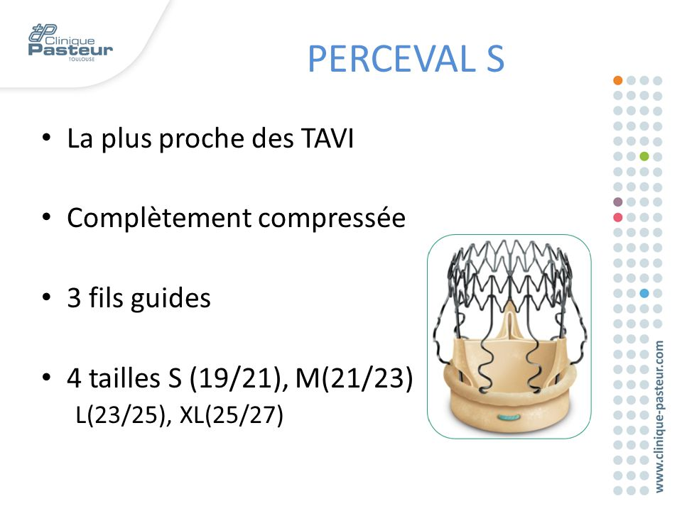PERCEVAL S La plus proche des TAVI Complètement compressée