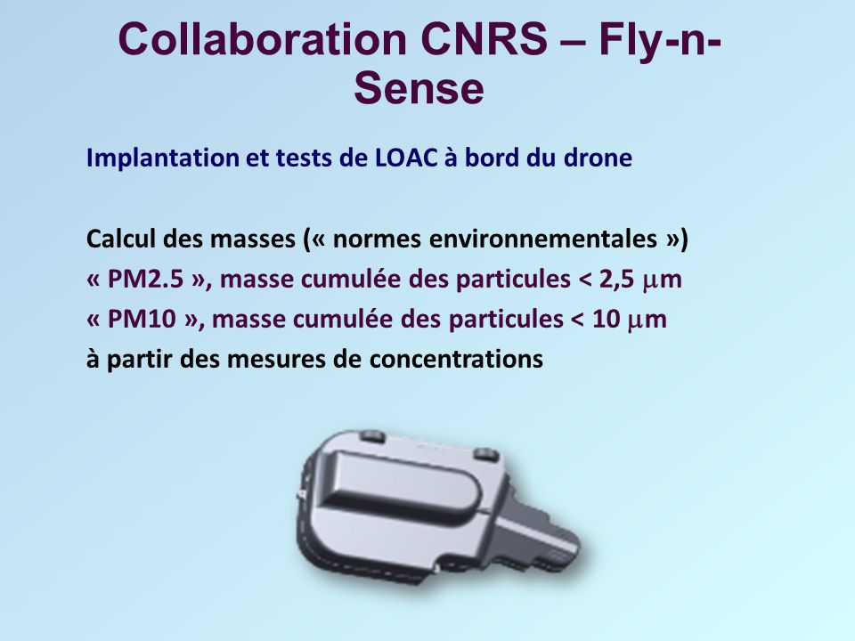 Collaboration CNRS – Fly-n-Sense