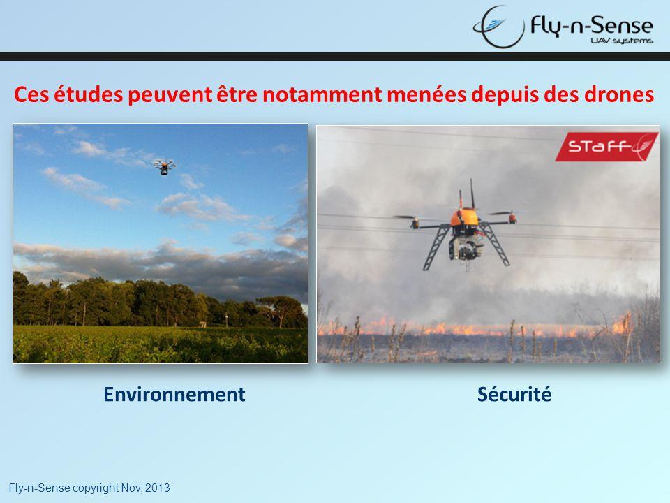 Ces études peuvent être notamment menées depuis des drones