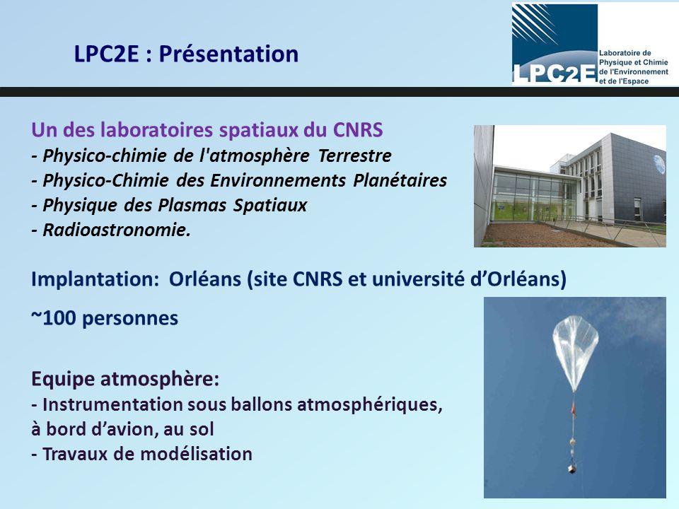 LPC2E : Présentation Un des laboratoires spatiaux du CNRS
