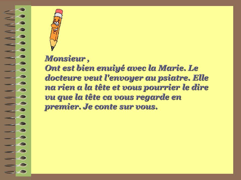 Monsieur ,