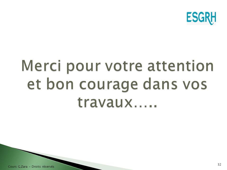 Merci pour votre attention et bon courage dans vos travaux…..