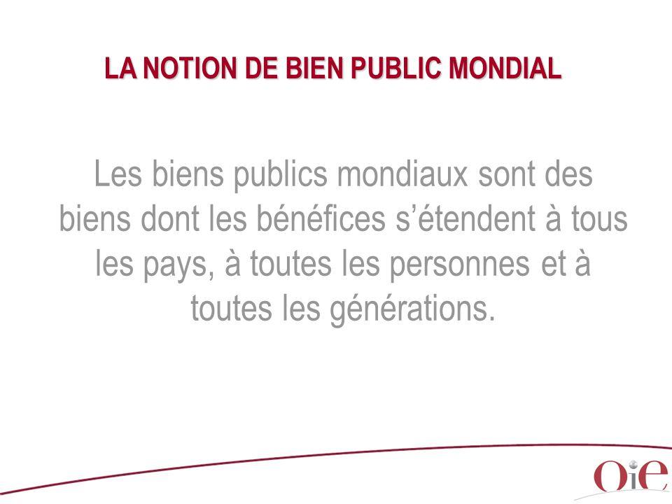 LA NOTION DE BIEN PUBLIC MONDIAL