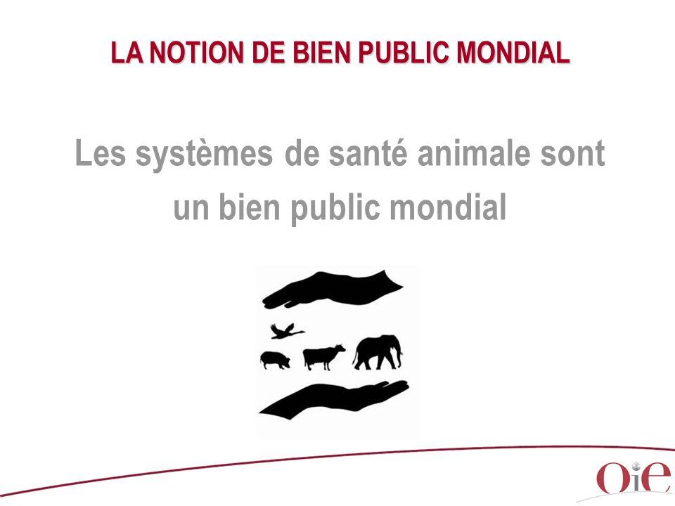 LA NOTION DE BIEN PUBLIC MONDIAL Les systèmes de santé animale sont