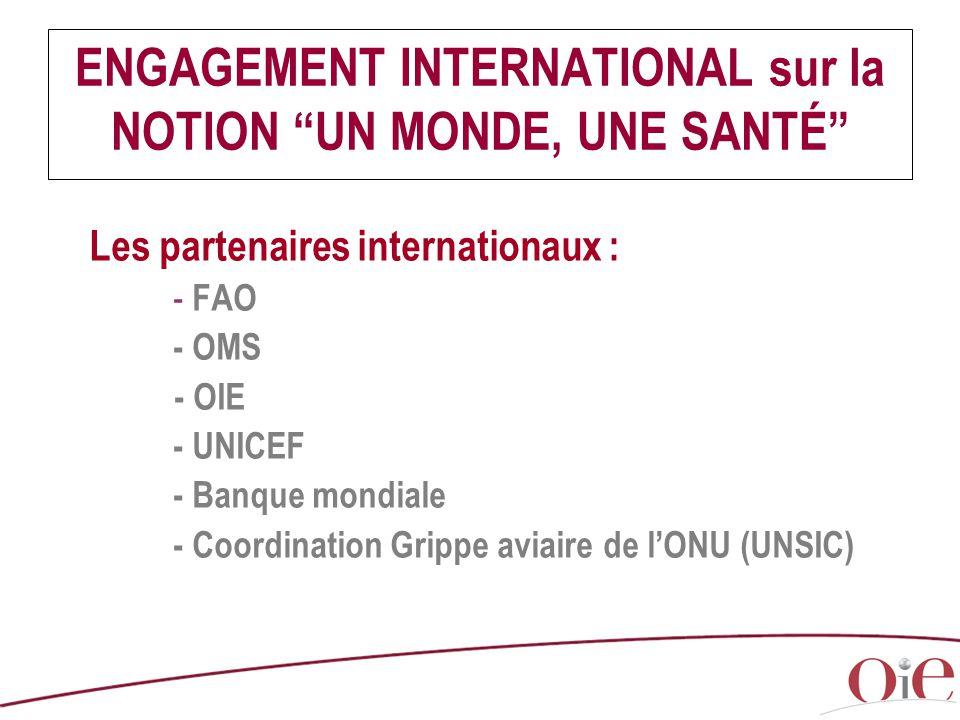 ENGAGEMENT INTERNATIONAL sur la NOTION UN MONDE, UNE SANTÉ