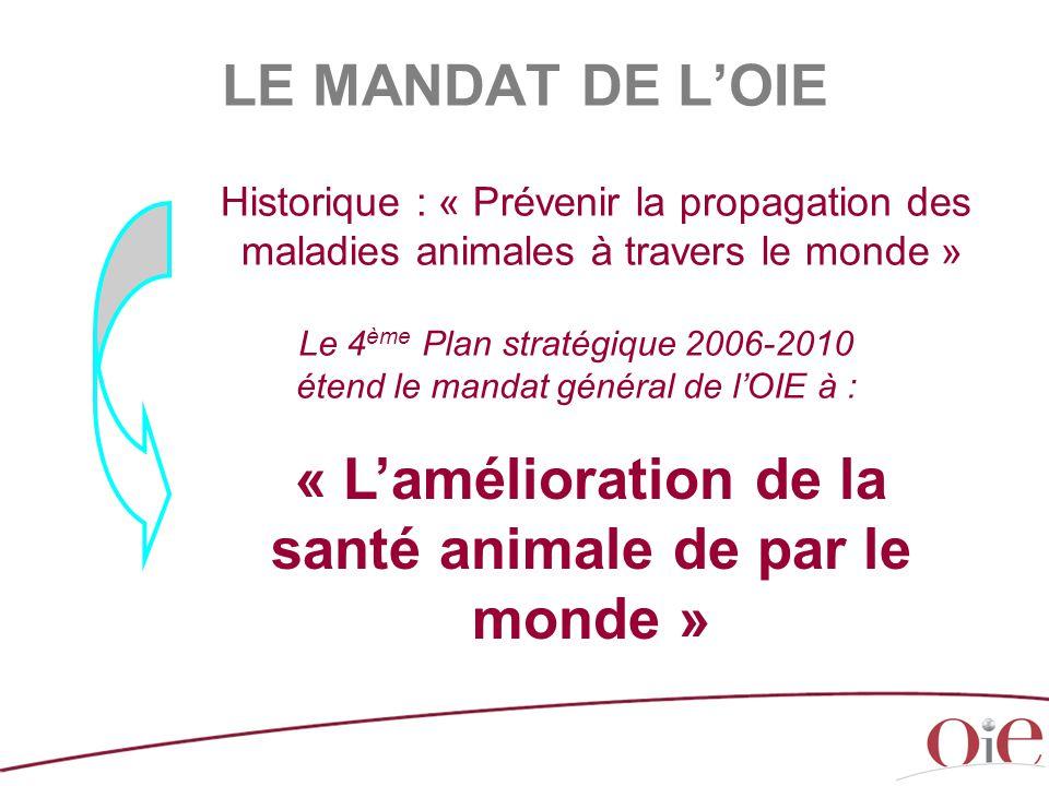 « L'amélioration de la santé animale de par le monde »
