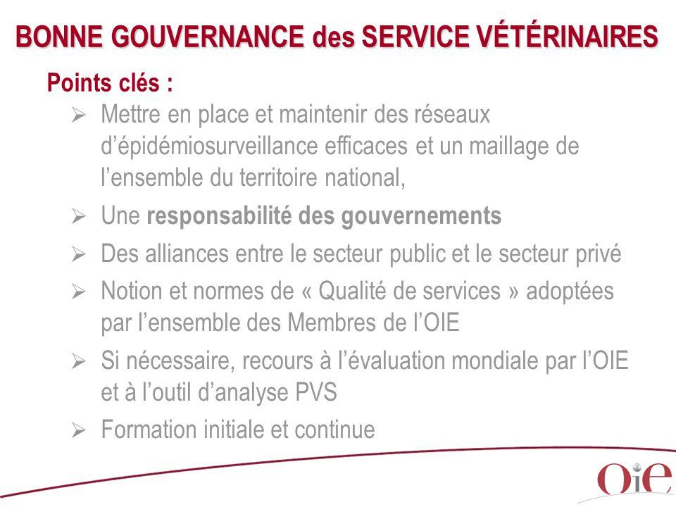 BONNE GOUVERNANCE des SERVICE VÉTÉRINAIRES