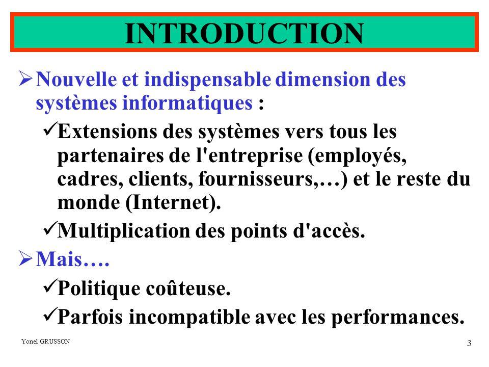 INTRODUCTION Nouvelle et indispensable dimension des systèmes informatiques :