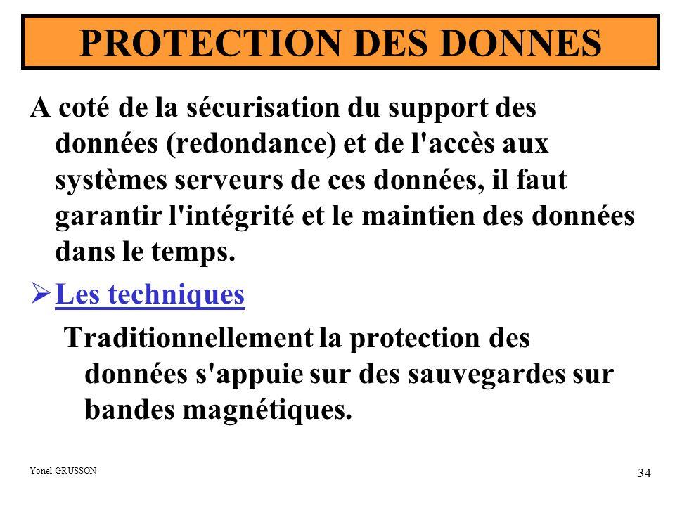 PROTECTION DES DONNES
