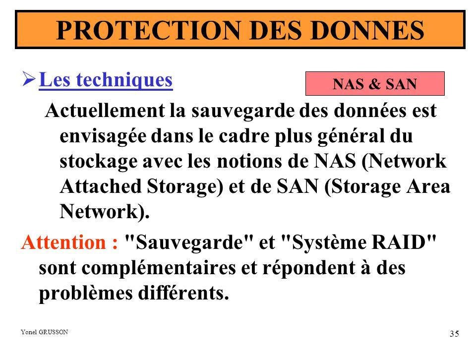 PROTECTION DES DONNES Les techniques