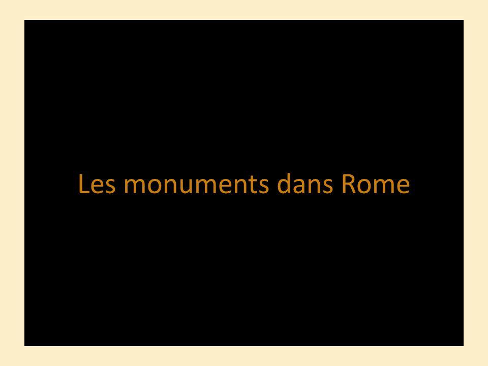 Les monuments dans Rome